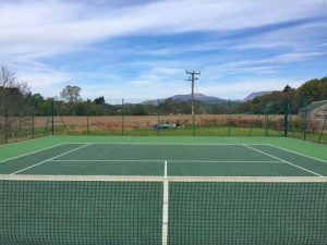 tennis court in Perthshire